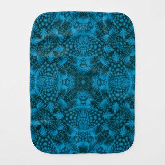 黒くおよび青の万華鏡のように千変万化するパターンのバープクロス バープクロス