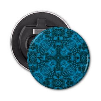 黒くおよび青の万華鏡のように千変万化するパターンの栓抜き 栓抜き