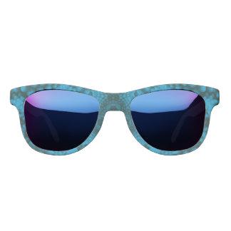 黒くおよび青の真夜中の鏡のサングラス サングラス