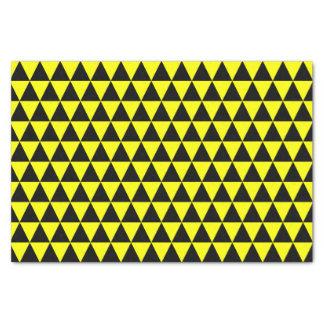 黒くおよび黄色の三角形 薄葉紙