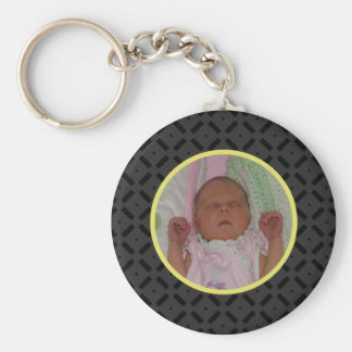 黒くおよび黄色の写真Keychain キーホルダー