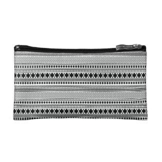 黒くか白く幾何学的なBohoの民族のプリントの化粧のバッグ コスメティックバッグ