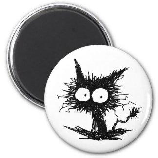 黒くだらしない子ネコ マグネット