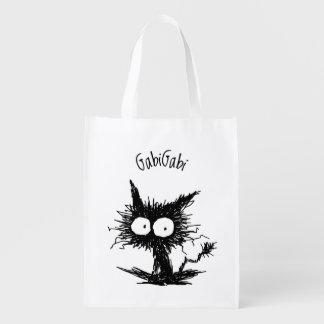 黒くだらしない子ネコGabiGabi エコバッグ