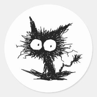 黒くだらしない子ネコGabiGabi ラウンドシール