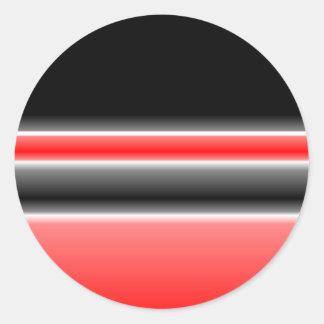 黒くまたは赤及び白のデザインのステッカー ラウンドシール