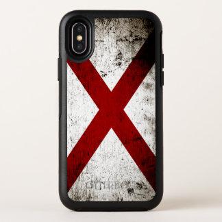 黒くグランジなアラバマの州の旗 オッターボックスシンメトリー iPhone X ケース