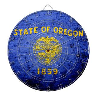 黒くグランジなオレゴンの州の旗 ダーツボード