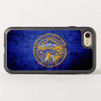 黒くグランジなネブラスカの州の旗 オッターボックスシンメトリーiPhone 8/7 ケース