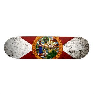 黒くグランジなフロリダの州の旗 21.6CM オールドスクールスケートボードデッキ