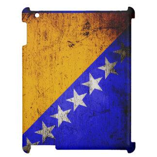 黒くグランジなボスニア・ヘルツェゴビナは印を付けます iPadケース