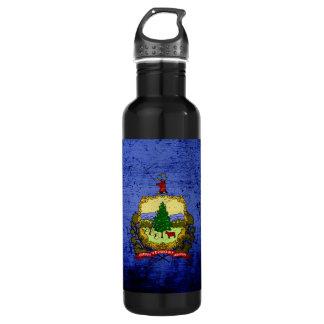 黒くグランジなヴァーモントの州の旗 ウォーターボトル