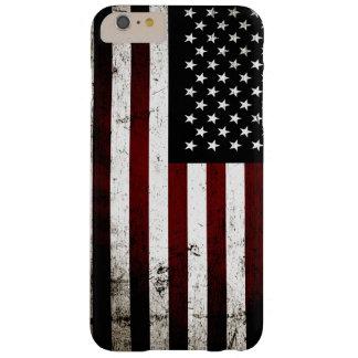 黒くグランジな米国旗 BARELY THERE iPhone 6 PLUS ケース