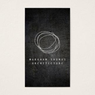 黒くグランジな金属のデザイナー走り書きのロゴ 名刺