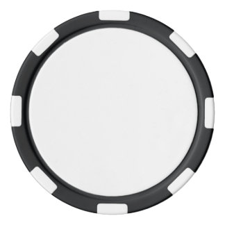 黒くストライプのな端が付いているポーカー用のチップ ポーカーチップセット