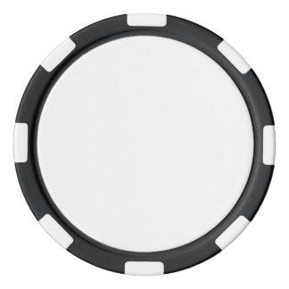 黒くストライプのな端が付いているポーカー用のチップ ポーカーチップ