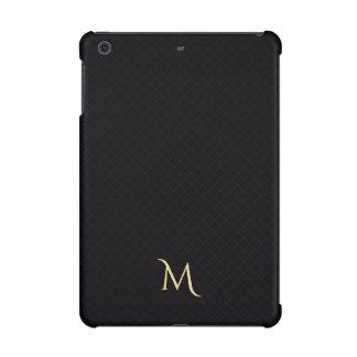 黒くモダンなモノグラムパターンiPad Miniの懸命の箱
