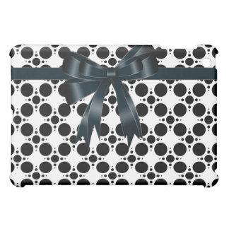 黒くモダンな点の白デザイナー iPad MINIカバー