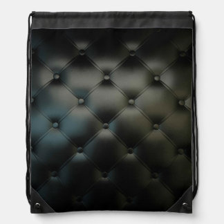 黒くロマンチックで美しい革 ナップサック
