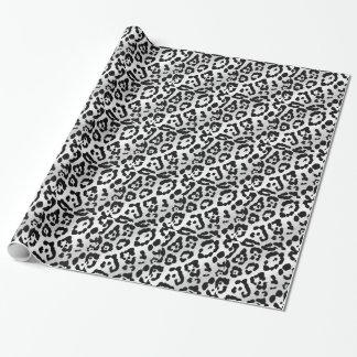 黒く及び白いアニマルプリントの包装紙 ラッピングペーパー