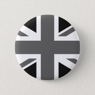 黒く及び白いイギリスの旗 缶バッジ