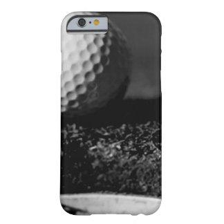 黒く及び白いゴルフ・ボールのカスタムのiPhone6ケース Barely There iPhone 6 ケース