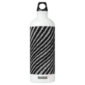 黒く及び白いジグザグパターン ウォーターボトル
