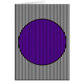 黒く及び白いストリップの紫色及び黒い円カード カード