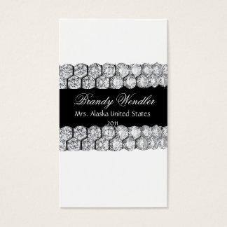 黒く及び白いダイヤモンドのページェントの名刺 名刺