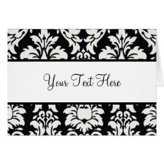 黒く及び白いダマスク織 カード