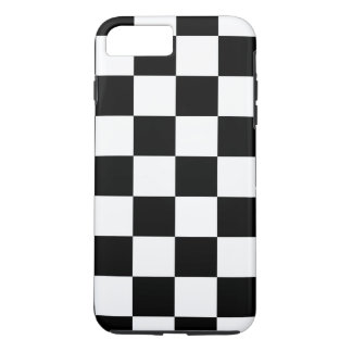 黒く及び白いチェック模様のパターンiPhone 8のプラスの場合 iPhone 8 Plus/7 Plusケース