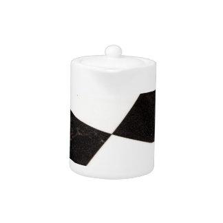黒く及び白いチェック模様の床