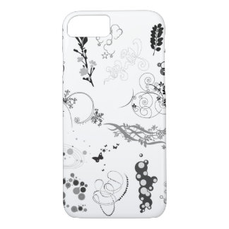 黒く及び白いデザインのiphoneの箱 iPhone 8/7ケース