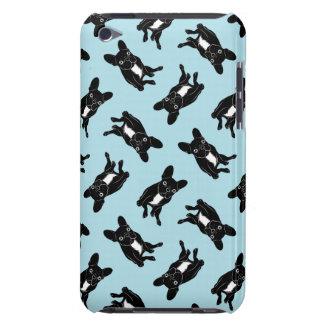 黒く及び白いデジタル芸術のかわいいbrindle Frenchie Case-Mate iPod Touch ケース