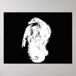 黒く及び白いドラゴン ポスター
