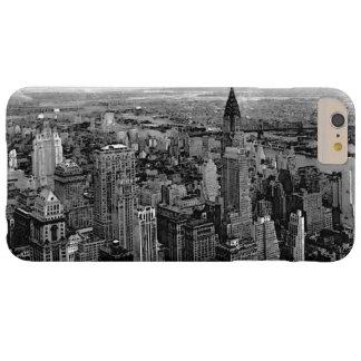 黒く及び白いニューヨークシティ BARELY THERE iPhone 6 PLUS ケース