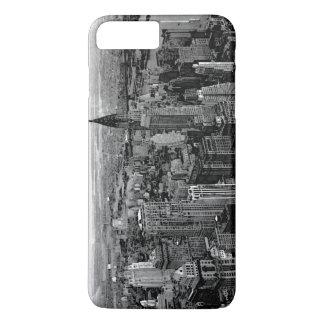 黒く及び白いニューヨークシティ iPhone 8 PLUS/7 PLUSケース