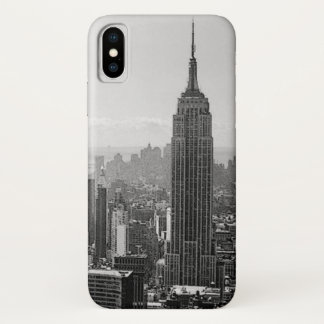 黒く及び白いニューヨークシティ iPhone X ケース