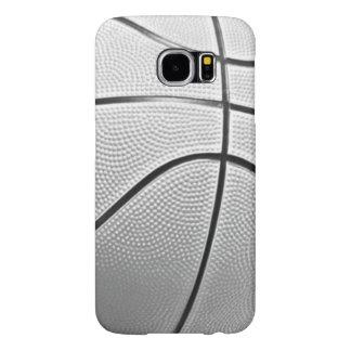 黒く及び白いバスケットボール SAMSUNG GALAXY S6 ケース