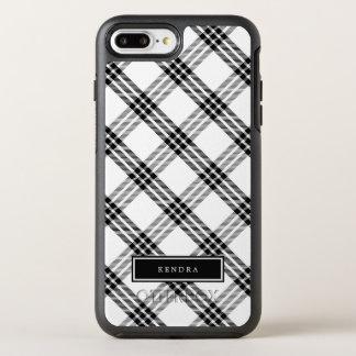 黒く及び白いバッファローの点検 オッターボックスシンメトリーiPhone 8 PLUS/7 PLUSケース