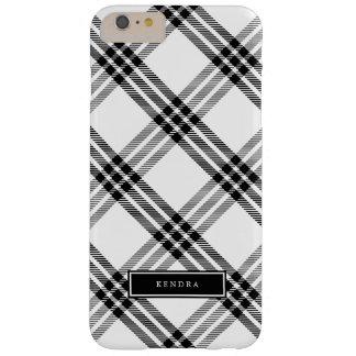 黒く及び白いバッファローの点検 BARELY THERE iPhone 6 PLUS ケース
