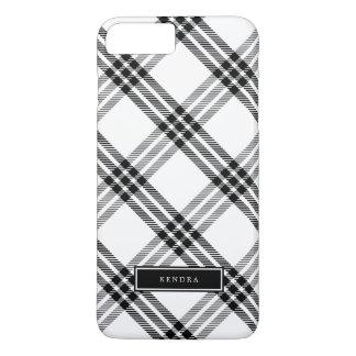 黒く及び白いバッファローの点検 iPhone 8 PLUS/7 PLUSケース