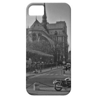 黒く及び白いパリNotre Dame iPhone SE/5/5s ケース