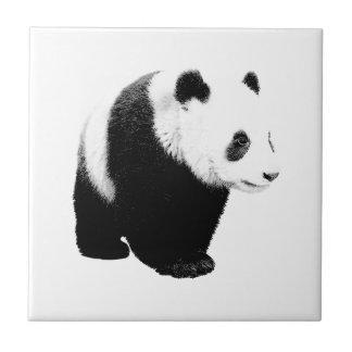 黒く及び白いパンダ タイル