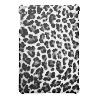 黒く及び白いヒョウのプリント iPad MINI カバー