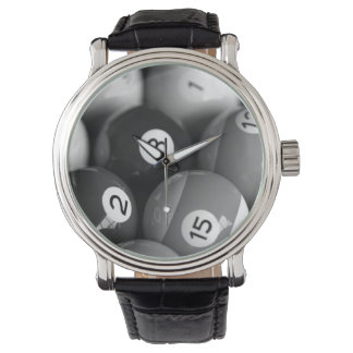 黒く及び白いビリヤードの腕時計 腕時計