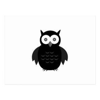 黒く及び白いフクロウ ポストカード