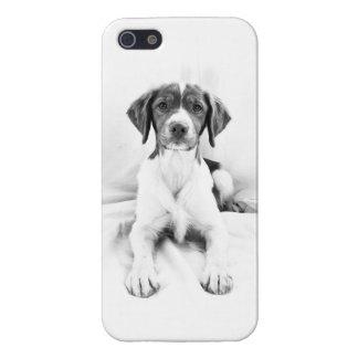 黒く及び白いブリッタニーのiPhoneの箱 iPhone 5 ケース