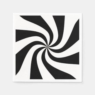 黒く及び白いペパーミントの休日のカクテルのナプキン スタンダードカクテルナプキン