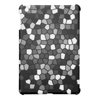 黒く及び白いモザイク iPad MINI カバー